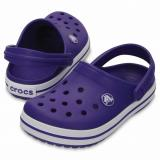 C R O C S Crocs CROCBAND KIDS Clogs Ultraviolet-White